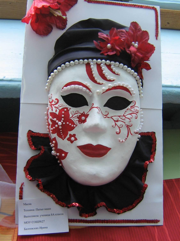 Роспись маски из папье-маше своими руками